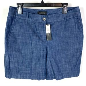 NWT Talbots Women's Blue Flat Front Shorts 1201